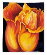 Singing Tulip Fleece Blanket