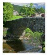 Single Arch Stone Bridge - P4a16018 Fleece Blanket