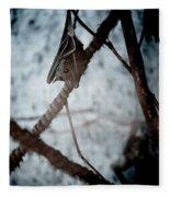 Single Bat Hanging Alone Fleece Blanket