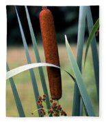 Single Cattail Fleece Blanket