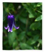 Single Clematis Bell Blossom Fleece Blanket