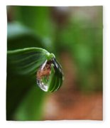 Single Drop Of Rain Water  Fleece Blanket