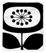 Single Flower 2  Fleece Blanket