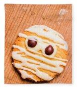 Single Homemade Mummy Cookie For Halloween Fleece Blanket