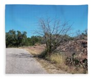 Single Lane Road In The Hill Country Fleece Blanket