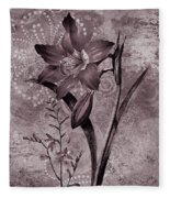Single Lily-vintage Series  Fleece Blanket