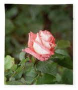 Single Pink Rose Fleece Blanket