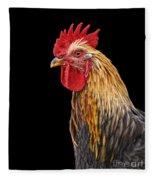 Single Rooster Fleece Blanket