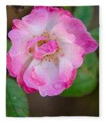 Single Rose 2 Fleece Blanket