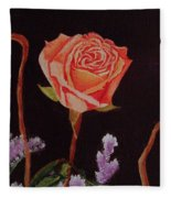 Single Rose Fleece Blanket