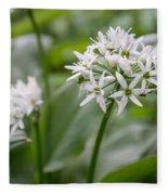 Single Stem Of Wild Garlic Fleece Blanket
