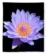Single Water Lily Fleece Blanket
