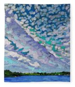 Singleton Altocumulus Morning Fleece Blanket