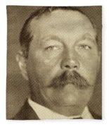 Sir Arthur Conan Doyle, 1859 -1930 Fleece Blanket