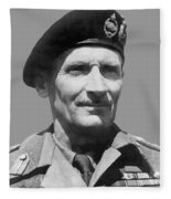 Sir Bernard Law Montgomery  Fleece Blanket