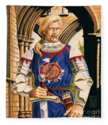 Sir Dinadan Fleece Blanket
