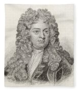 Sir John Vanbrugh, 1664 To 1726 Fleece Blanket