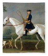 Sir Roger Burgoyne Riding 'badger' Fleece Blanket