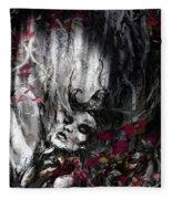 Siren Of The Crimson Forest  Fleece Blanket