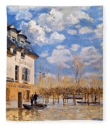 Sisley: Flood, 1876 Fleece Blanket