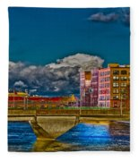 Sister Cities Pedestrian Bridge Fleece Blanket