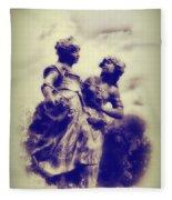 Sisters - Ink  Fleece Blanket