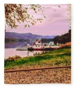 Sisters Ville Ferry Fleece Blanket