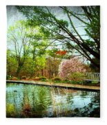 Sit And Ponder - Deep Cut Gardens Fleece Blanket