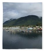 Sitka Alaska From The John O'connell Bridge Is A Cable-stayed Bridge 2015 Fleece Blanket