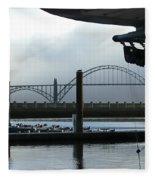 Sittin On The Dock Of The Bay 2300 Fleece Blanket