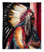 Sitting Bull Fleece Blanket