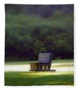 Sitting In The Sun Fleece Blanket