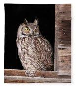 Sitting In The Window Fleece Blanket