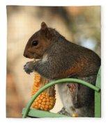 Sitting Squirrel Fleece Blanket