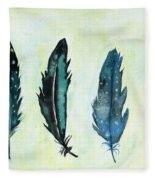 Six Feathers Fleece Blanket