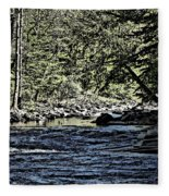 Six Mile Creek Ithaca Ny Fleece Blanket