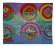 Six Visions Of Heaven Fleece Blanket