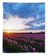 Skagit Floral Sunset Fleece Blanket