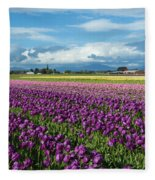 Skagit Tulip Storm Fleece Blanket