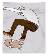Skateboarding Fleece Blanket
