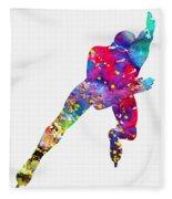 Skating Man-colorful Fleece Blanket