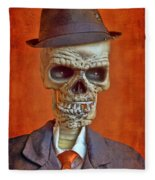 Skeleton Man Fleece Blanket