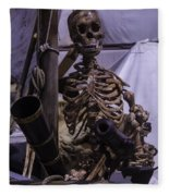 Skeleton With Bow Canon Fleece Blanket