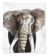 Sketch Elephant Fleece Blanket