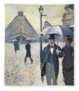 Sketch For Paris A Rainy Day Fleece Blanket