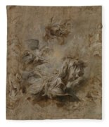 Sketch For The Banqueting House Ceiling Fleece Blanket