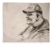 Sketch Man 15 Fleece Blanket