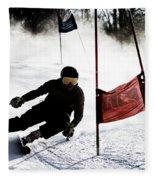 Ski Racer 2 Fleece Blanket