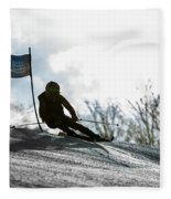 Ski Racer Backlit Fleece Blanket