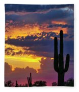 Skies Aglow In Arizona  Fleece Blanket